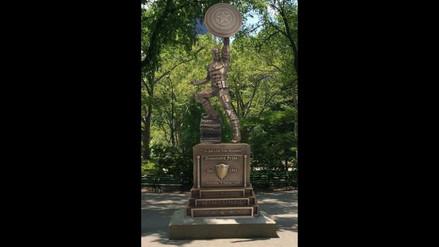 Capitán América: celebran con estatua el 75 aniversario de héroe