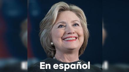 Hillary Clinton abre su cuenta de Twitter en español para atraer el voto latino