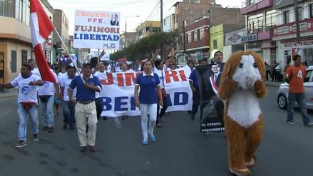 Ciudadanos marcharon pidiendo libertad del expresidente Fujimori