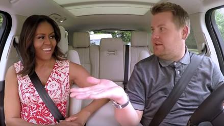 Michelle Obama sorprende rapeando en taxi karaoke [VIDEO]