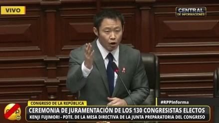 El discurso de Kenji Fujimori en la juramentación de congresistas