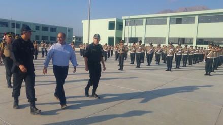Ministro del Interior inspecciona Escuela de Suboficiales PNP de Trujillo