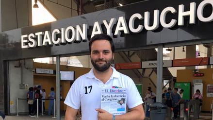 Twitter: Alberto de Belaunde tomó el Metropolitano para ir al Congreso a juramentar