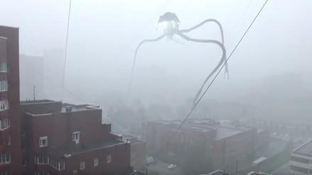 YouTube: un espantoso trípode extraterrestre 'invade' Rusia