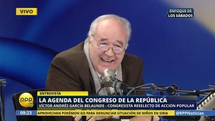 "García Belaunde: ""A algunos congresistas solo les faltó jurar por su mascota"""