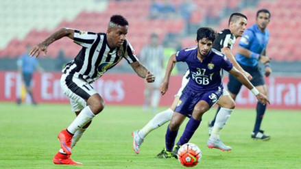 Jefferson Farfán marcó en empate de Al Jazira ante TEC