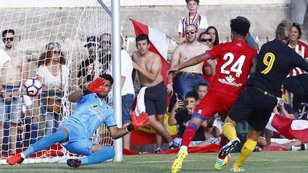 Alexander Callens jugó con Numancia en derrota por 2-0 ante Atlético de Madrid