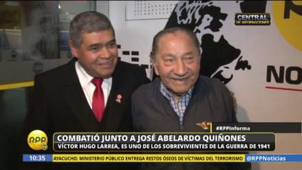 Conoce al sobreviviente de la guerra con Ecuador que fue amigo de José Quiñónes