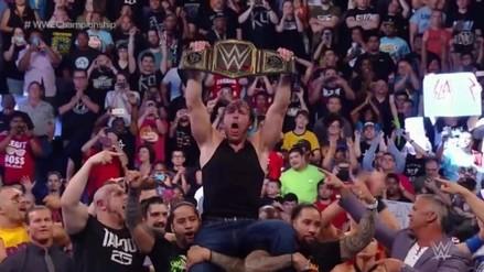 Deam Ambrose retuvo el título de la WWE ante Seth Rollins y Roman Reigns