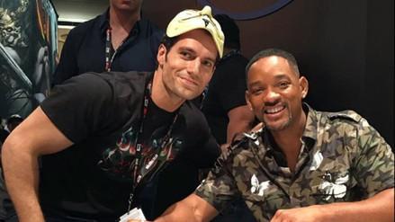 Facebook: Henry Cavill sorprendió a Will Smith en plena Comic Con