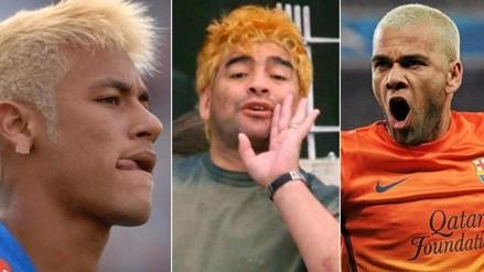 Como Lionel Messi: 10 futbolistas que se pintaron el cabello de rubio