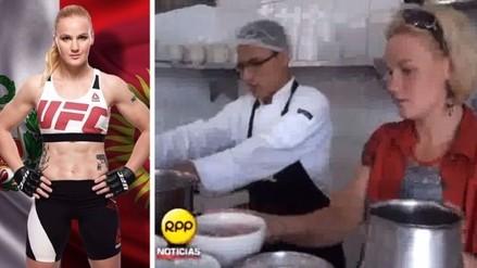 UFC: el día que Valentina Shevchenko aceptó reto de RPP y preparo ceviche