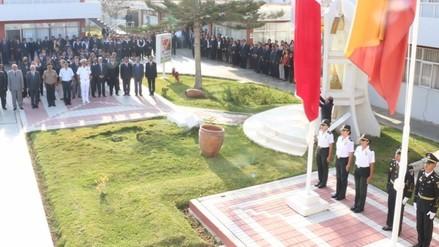 En la sede central del Gobierno Regional rinden homenaje al Perú