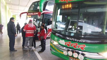 Huancayo: autoridades intervienen a transportistas de terminal