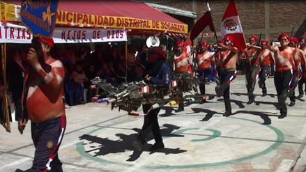 Internos demostraron fervor patriótico en desfile realizado en penal