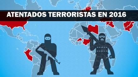Interactivo: Mapa de atentados terroristas en el mundo