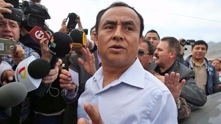 Gregorio Santos salió esta tarde del penal de Ancón
