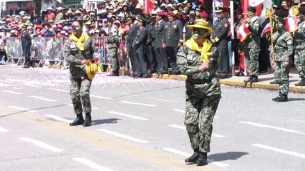 Huancayo: Fuerzas Armadas representan danzas en desfile por fiestas patrias