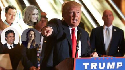 Estas celebridades firman un manifiesto contra Donald Trump