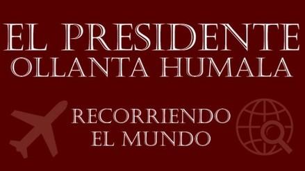 ¿Qué viajes realizó el presidente Ollanta Humala durante su mandato?