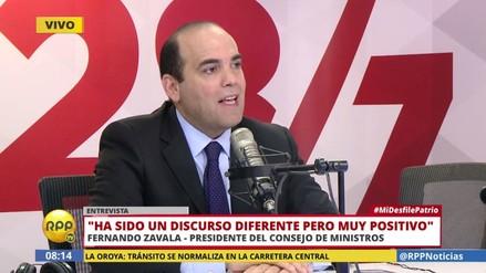 """Zavala: """"Discurso de PPK ha sido esperanzador y retador para los ministros"""""""