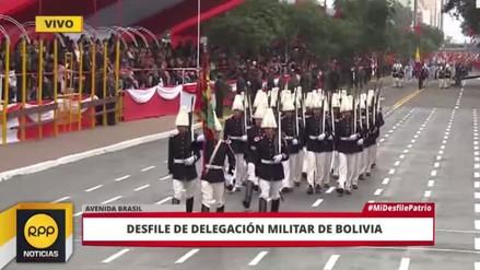 Así fue la peculiar marcha de la delegación boliviana en la Parada Militar