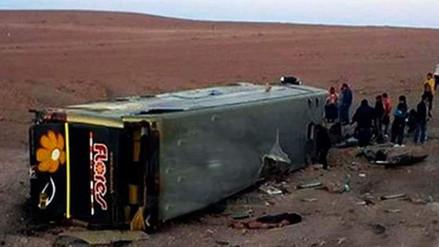 Despiste de bus dejó cinco muertos en Moquegua
