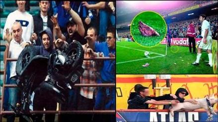 Fotos: Los objetos más raros que se lanzaron en un campo de fútbol