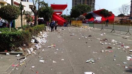 100 toneladas de basura adicionales se recogieron tras festejos por Fiestas Patrias