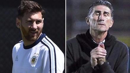 Edgardo Bauza confirmó que se reunirá con Lionel Messi