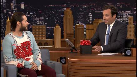YouTube: Jared Leto sorprende a Jimmy Fallon con este aterrador regalo