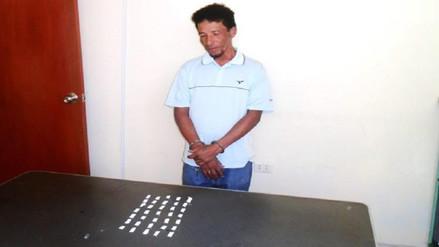 """Policía capturó a alias """"Tilolo"""" con 35 ketes de droga en Zaña"""