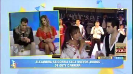 Alejandra Baigorria difunde audios sobre malos tratos de Guty Carrera