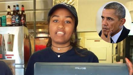 Twitter: la hija de Barack Obama trabaja como camarera