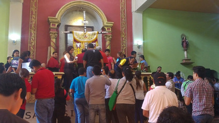 Cruz de Chalpón pernoctará hasta el 14 en la ciudad de Motupe