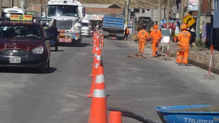La Oroya: caos vehicular al no respetar mantenimiento de vías