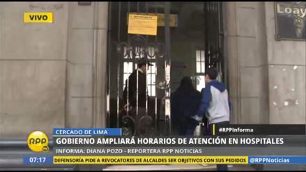 Hospital Loayza fue el primero en atender desde las 06:00 horas