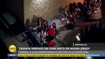 Nueva Jersey: más de 30 heridos al desplomarse tribuna durante concierto
