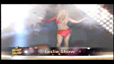 FOTOS. El Gran Show: Leslie Shaw sufre incidente en vivo