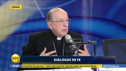 Cardenal Cipriani ratificó que su expresión sobre las mujeres fue equivocada