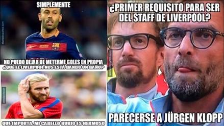Facebook: Barcelona es víctima de memes tras caer 4-0 ante Liverpool