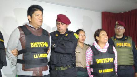 Conducen a penal de Trujillo a 'Chino Malaco' y a su pareja