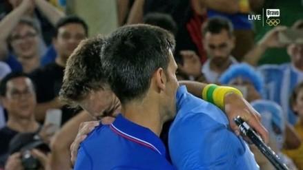 Río 2016: Juan Martín del Potro lloró tras eliminar a Novak Djokovic
