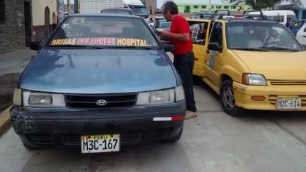 Autos colectivos se sumarán a protesta por alza de GLP en Chiclayo