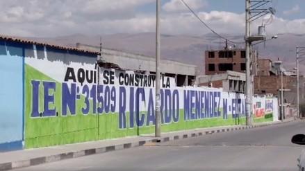 Huancayo: padres de familia se quejan por pinta política en colegio