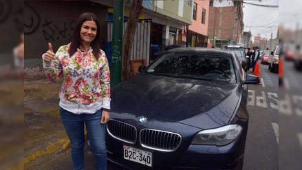 Daniela Cilloniz: serenos de Surco recuperaron su moderno auto