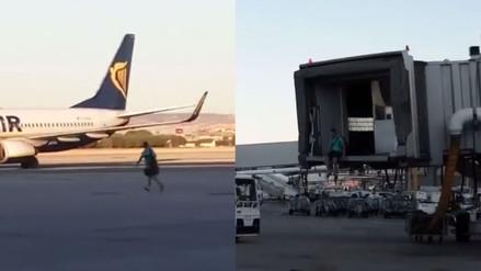 Facebook: pasajero se lanza a la pista de aterrizaje para no perder su vuelo