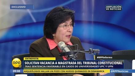 """Magistrada del caso UPC y UPN: """"Yo no hice público mi voto"""""""