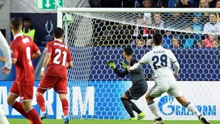 Real Madrid vs. Sevilla: Marco Asensio marcó golazo en la Supercopa de Europa