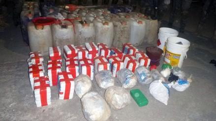Decomisan más de 130 kilos de droga en el Vraem